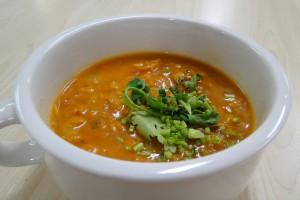 アレがのったスープ